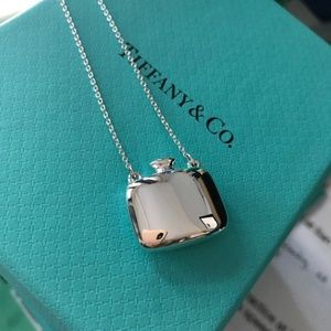 Rare Tiffany & Co. Square Bottle Necklace